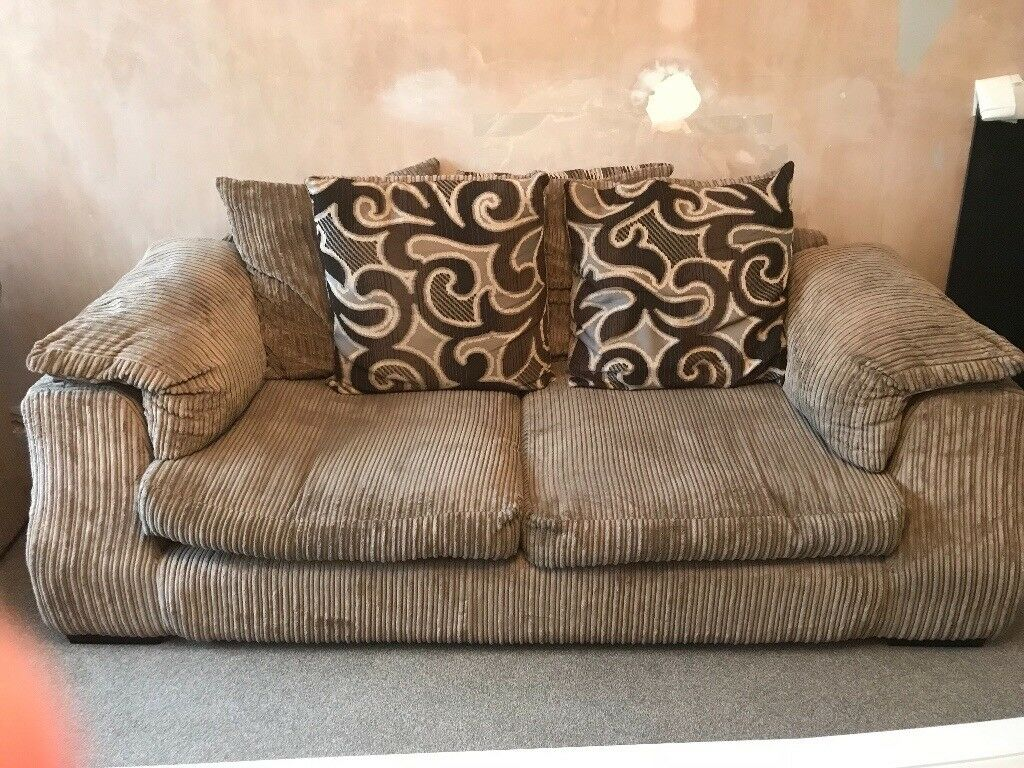Gorgeous Light Brown 3 Seater Sofa And Two Swivel Cuddle Chairs