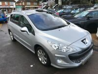 2009/09 PEUGEOT 308 SW 1.6 HDi FAP SE 5 DR DIESEL ESTATE 5DR SILVER,HIGH SPEC,LOOKS AND DRIVES WELL