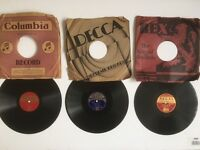 Rare Set of 3 George Formby 78 Vinyl Records - 1940's - Regal & DECCA Labels - Collectors