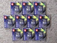 10 new sealed SONY 74 minute Premium MD recordable MiniDiscs - MDW-74B
