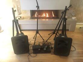 Professional disc karaoke machine with speakers