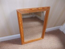 Mirror in wooden frame good condition