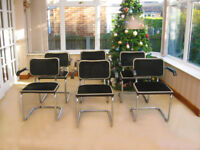 10 RETRO STYLE CHAIRS IN VERY GOOD CONDITION (CAN DELIVER LOCALLY FOR FUEL COSTS)