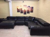 Domicil luxury Leather Corner Sofa