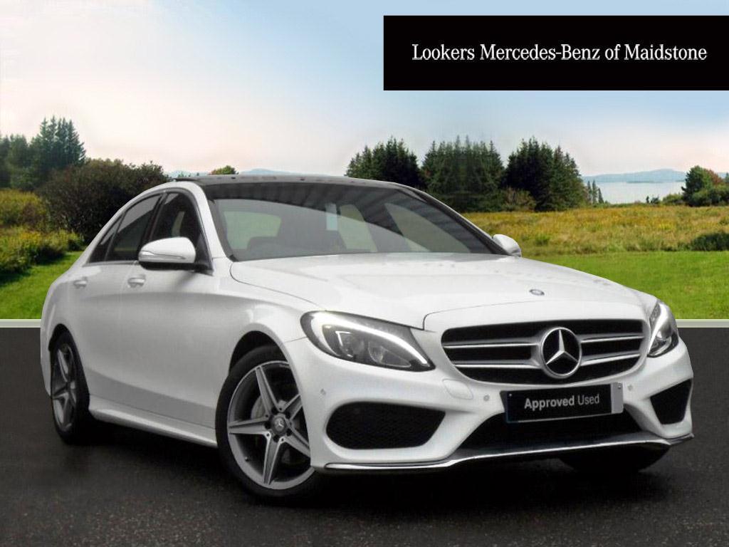 Mercedes-Benz C Class C220 BLUETEC AMG LINE PREMIUM (white