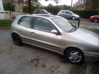 X reg fiat bravo 1.2 needs starter motor but starts with a bump still taxed moted and insured