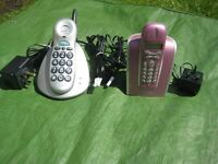 Pink Doro 525 and BT Freestyle 60 Cordless telephones - £5.00 each