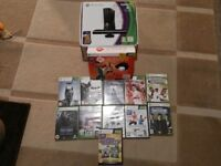 XBOX 360 (BOXED)- SLIM WITH KINECT 4GB WITH 250 GB HARD DRIVE + GAMES