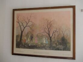 Old framed print good condition