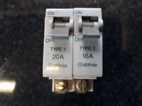 CRABTREE SB6000 MCB CIRCUIT BREAKERS