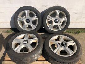 """15"""" GENUINE 2007 SEAT IBIZA Alloy wheels 4x100"""