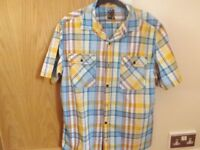 Next Checked Shirt Size L Slimmer Fit