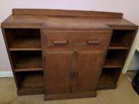 Sturdy 30s-40s Lancashire utility oak (?) sideboard