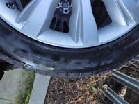 """21"""" land rover alloy wheels with 6mm tyres X 4"""