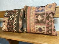 Vintage killim carpet cushions