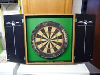 DARTBOARD IN SCORE BOARD ENCLOSURE
