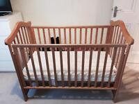 Cot Bed & Moses Basket Bundle with Mattresses
