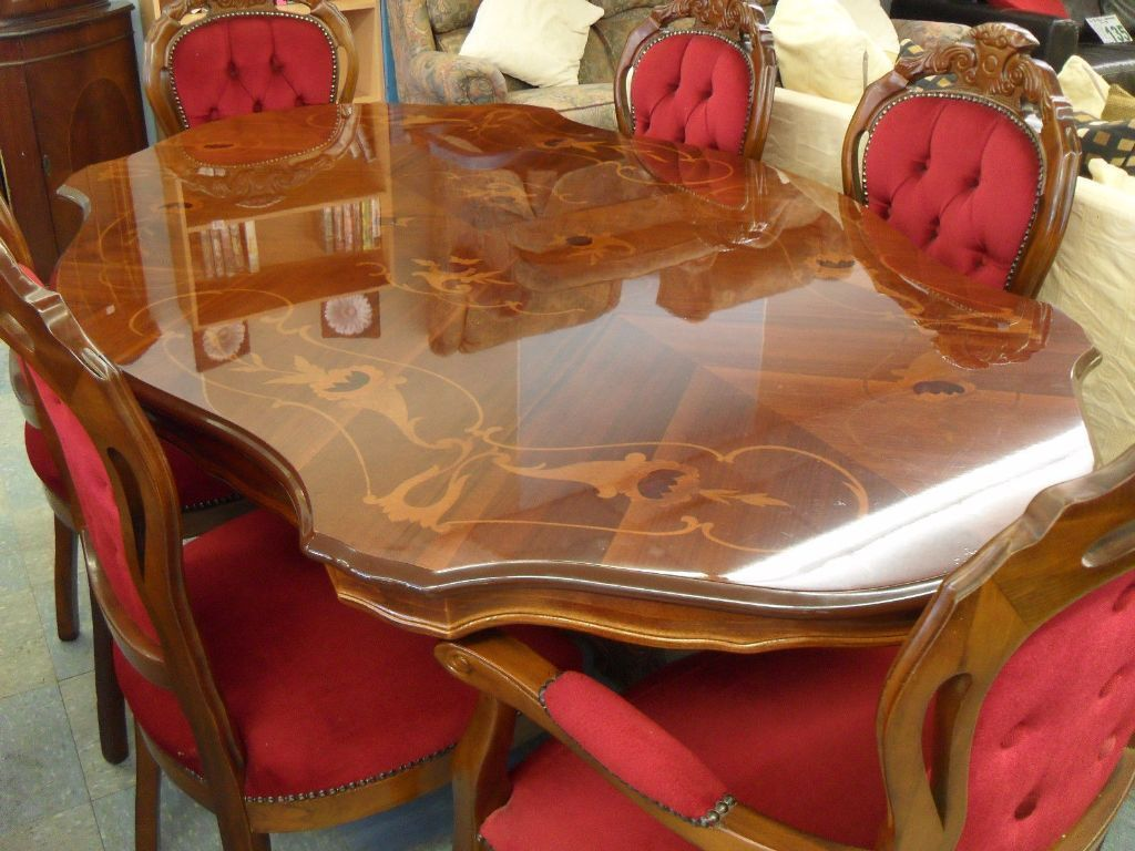 Inlaid Dining Table Italian Inlaid Dining Table 6 Louis Chairs In Wigton Cumbria