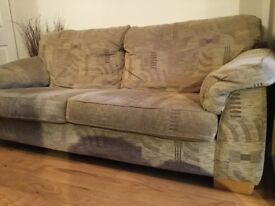 One three, and one two seater sofas for sale, good condition.