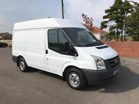 Ford transit 85 t280 swb semi high roof, 2009 (09) reg, tested, 1 former keeper, in white, no vat!!