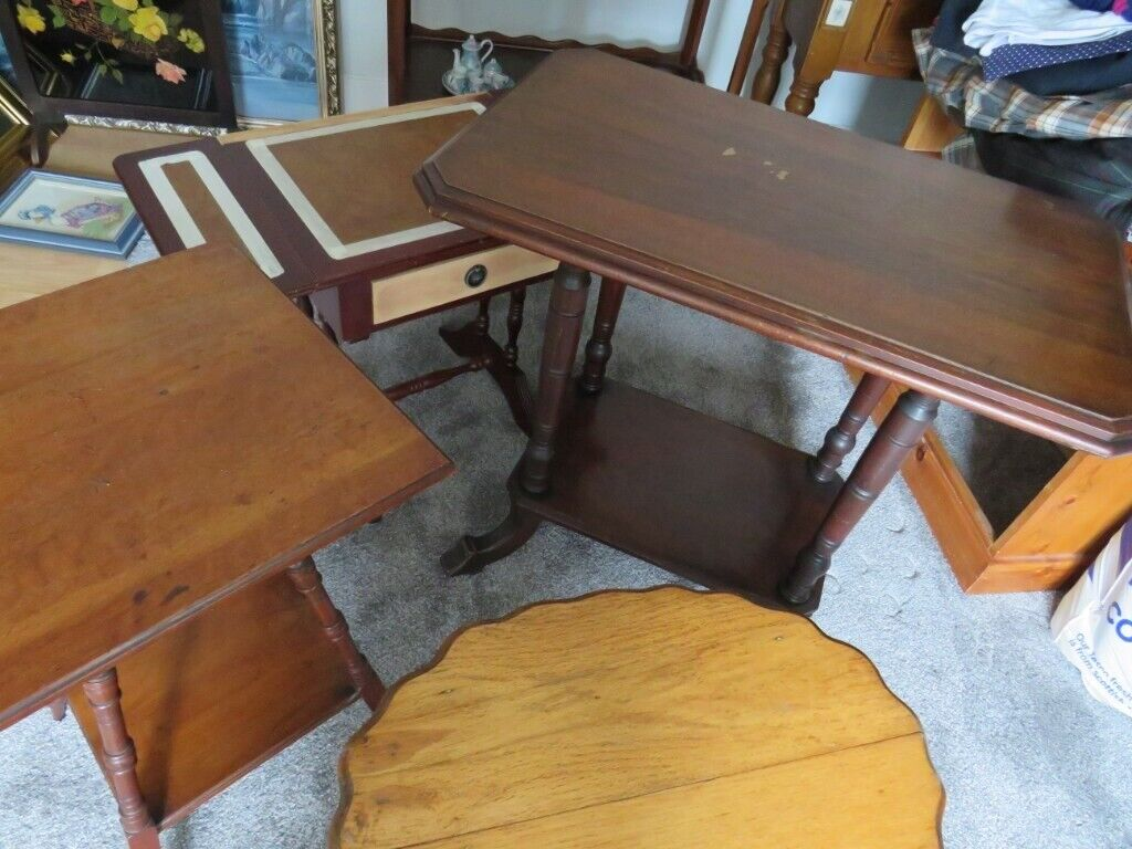 Woood Sidetable Job.4 Side Tables Suitable For Upcycling Sold As A Job Lot Buyer Collect From Non Smoking Home In Buckie Moray Gumtree