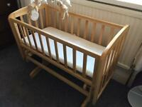 Wooden Swinging Crib and Cot Mobile