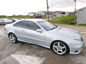 2006 MERCEDES CLK320 3.0 CDI V6 SPORT AMG COUPE 7G -TRONIC 2 DOOR SILVER
