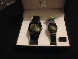 Lady's and gents matching swissline quartz watches ideal Xmas gift