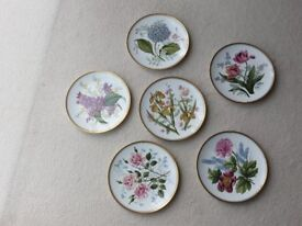 set of six decorative plates by SPODE....garden flowers series