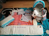Baby K Mylene Klass Moses Basket and Cot Bedding Joblot