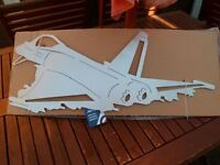 *EUROFIGHTER TYPHOON ~ METAL WALL HANGING* Boxed