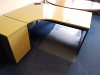 Corner desk and pedestal - 4 available - great condition - PRICE IS PER DESK