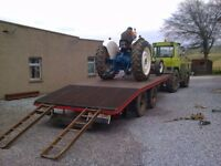 LOW LOADER TRAILER - TRACTOR/UNIMOG/LORRY drag trailer - 12 ton