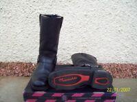 Motorcycle boots. Size UK10 Black like new hardly used