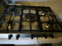 Single electric oven and gas hob