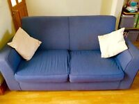 Free Habitat 2 seater blue sofa