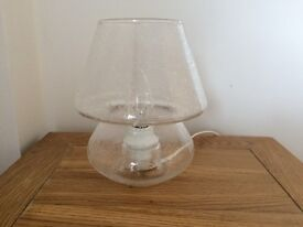 Small clear table bedside lamp