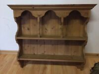 Wall mounted pine dresser