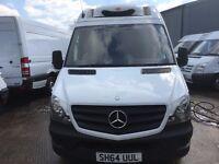 mercedes sprinter lwb fridge van.2014.new shape.low miles.still under main dealer warranty