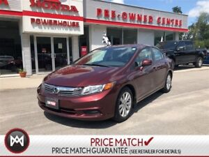 2012 Honda Civic Sdn EX! SUNROOF! BLUETOOTH! CRUISE CONTROL! A/C