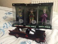 Batman - 1966 TV Series Collection - 3 Figures & Batmobile - Brand New - RRP £85