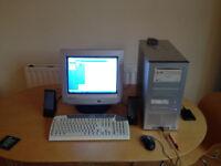 DESKTOP PC FOR SALE (INCLUDES SCANNER)