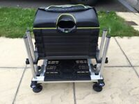 Matrix F25 fishing seat box, extra deep drawer unit and F25 trolley