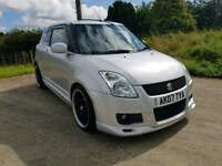 2007 SUZUKI SWIFT 1.6 SPORT..MOTED TO MARCH 2018.POSSIBLE PART EXCHANGE CREDIT CARDS ACCEPTED