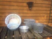 Five large pot and pans