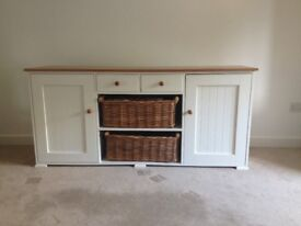 Bespoke contemporary sideboard with solid wood top,