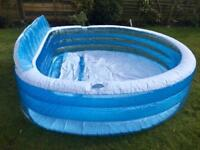 Intex inflatable swim centre family lounge large paddling swimming seat pool