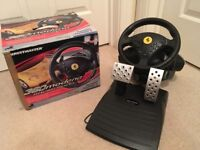 PlayStation 2 Thrustmaster 360 Modena Racing Wheel and pedals