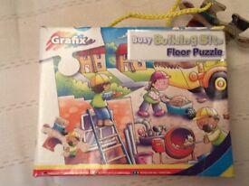 Grafix busy building site floor puzzle