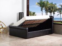 BRAND NEW SIDE OPENING LEATHER BED